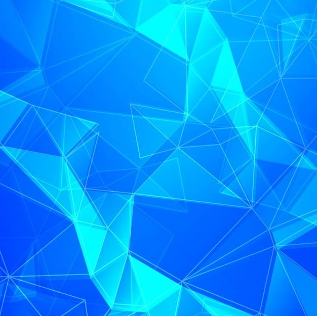 Голубой полигональный фон