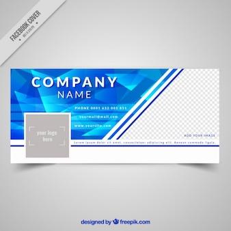 Blue polygonal company social network cover