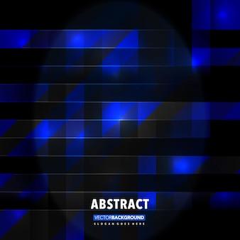 Blu poligonale in sfondo scuro
