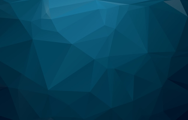 Blue polygonal illustration, which consist of triangles.