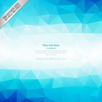 Blue polygons background