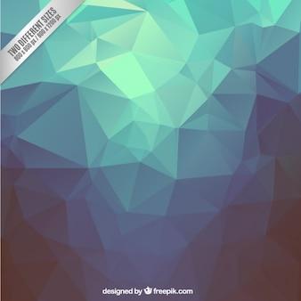 Blue polygons background Premium Vector