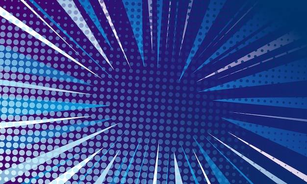 Blue pop art background
