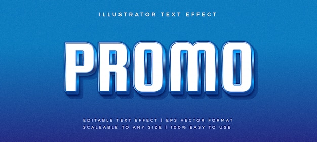 Эффект шрифта blue promotion shiny text style