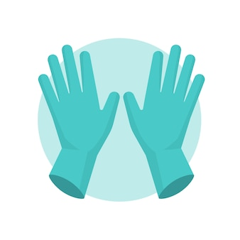 Blue protective gloves illustrated
