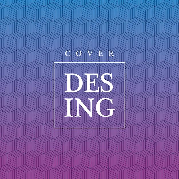 Синий фиолетовый градиент и узор фона, дизайн обложки.