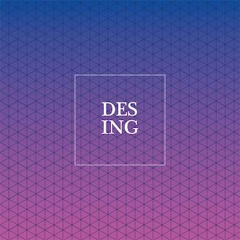 青紫のグラデーションとパターンの背景、カバーデザイン。