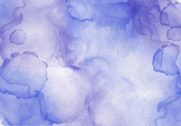 ブルーパープルミックスアルコール水彩インク抽象エレガンス流体現代絵画