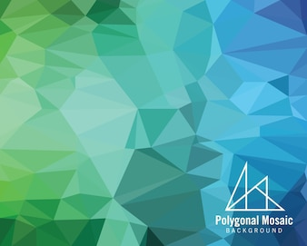 Blue Purple Polygonal Mosaic Background