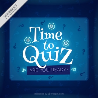 Blue quiz background with white details