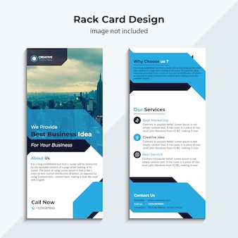 Blue rack card template