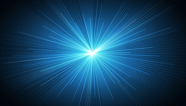 Blue radial speed lines background