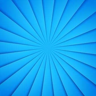 紙のスタイルの青い光線。斜めの線とストライプの背景。デザインのベクトル図