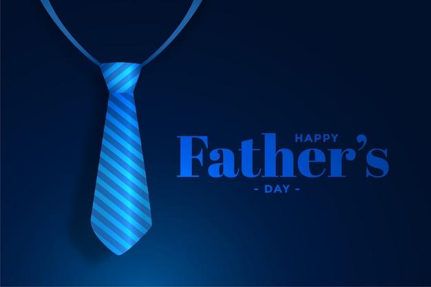 Синий реалистичный галстук счастливый день отцов фон