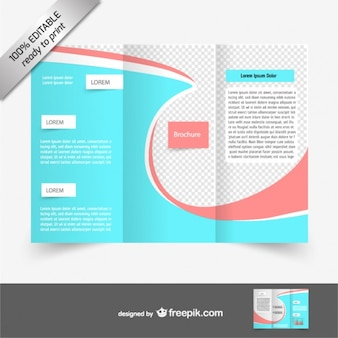 Blue and red brochure template