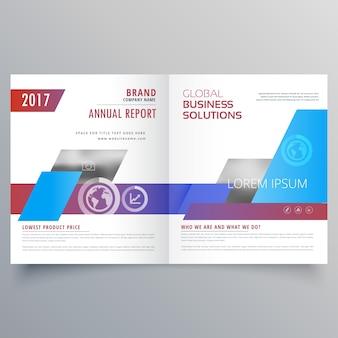 Moderno modello di progettazione brochure bifold copertina di una rivista di affari