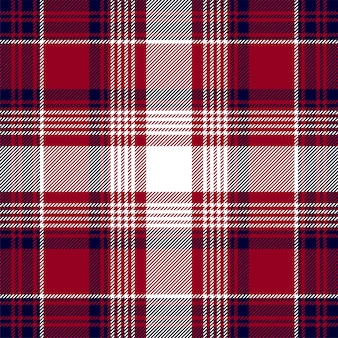 Blue red check plaid texture seamless pattern.
