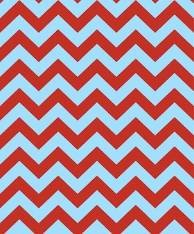 Blue red color vector seamless zigzag chevron pattern background.