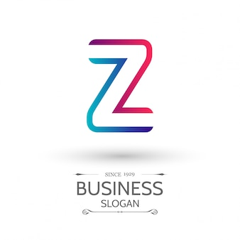 Blue and red logo with letter z