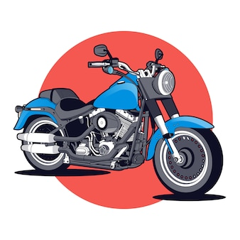 Blue and red motorcycle background
