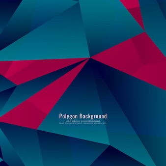 Blue and red polygonal background