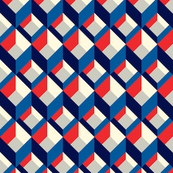 Blue and red squared seamless pattern