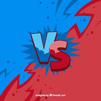 Blu e rosso contro sfondo