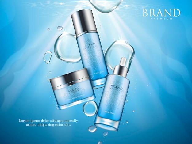 水の要素、イラストと青い修理血清