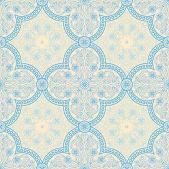 青いレトロパターン