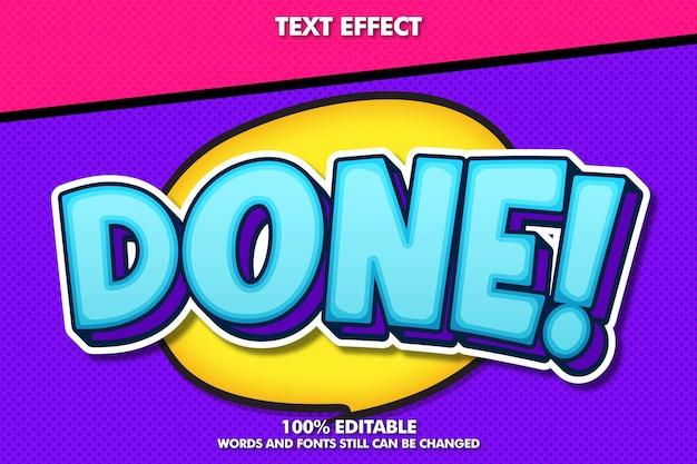 Blue retro pop art editable text