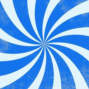 青いレトロな波状バーストビンテージ背景