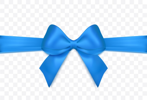 Голубая лента и бант изолированное украшение для подарочных карт для подарочных коробок