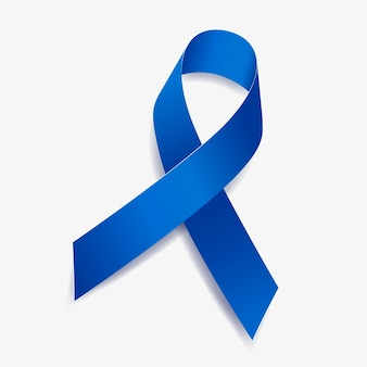 Blue ribbon awareness arthritis, water safety, hydrocephaly, fibrous dysplasia, education, colon cancer. isolated on white background. vector illustration.