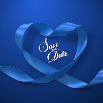 Blue ribbon heart.