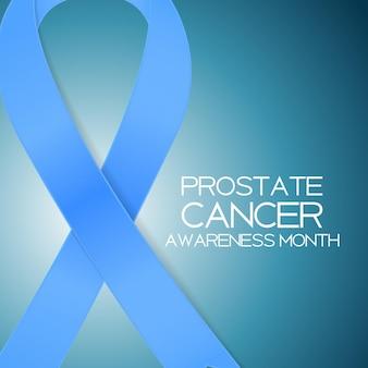 Голубая лента - символ всемирного дня борьбы с раком простаты conce