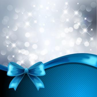 Blue ribbon wiht lights