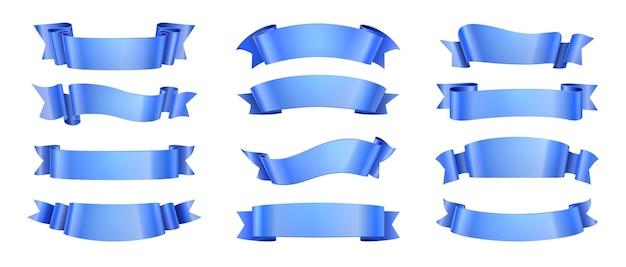 Иллюстрация синих лент