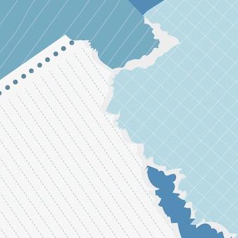 블루 찢어진 노트 컬렉션