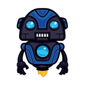 블루 로봇 마스코트 디자인
