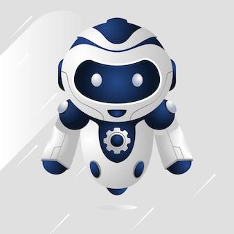 Синий робот