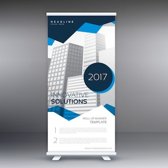 Blue roll up template for business