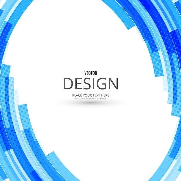 Blue round background