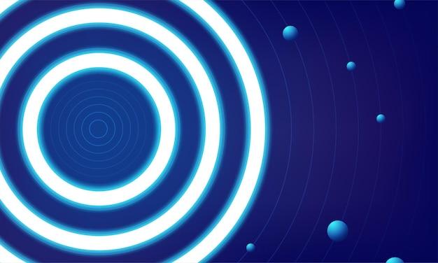 Blue round shining circle frame isolated on transparent background