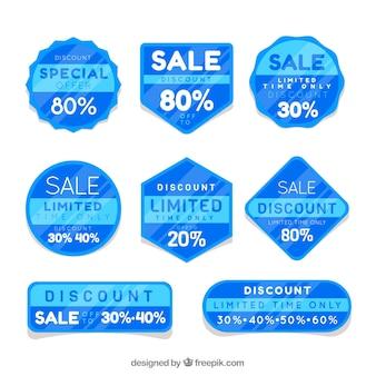 Adesivo di vendita blu