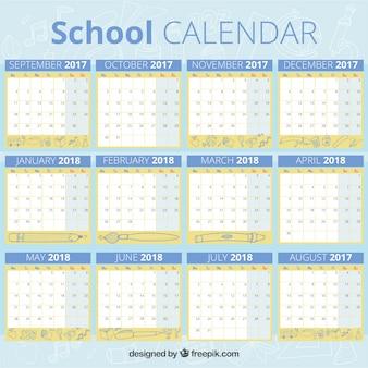 Синий школьный календарь