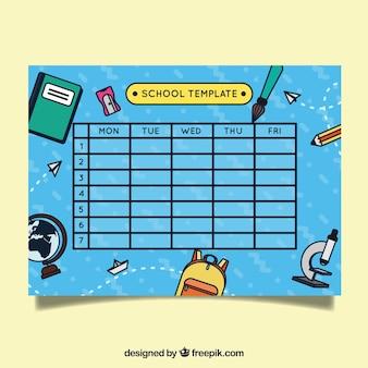 マテリアル・ドローイングによる青い学校のスケジュール