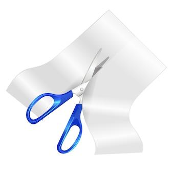 Blue scissor vector illustration