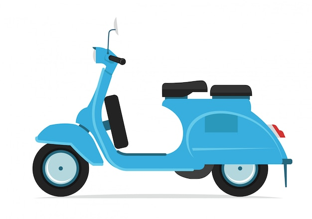 Blue scooter motorcycle