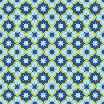 블루 원활한 골동품 모로코 당초 패턴