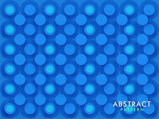 Синий бесшовные круг шаблон фона отверстия в вырезке из бумаги